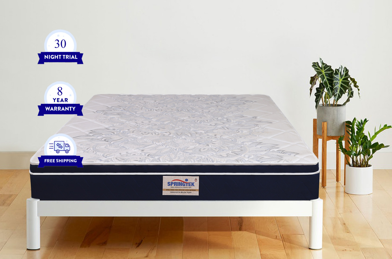 Buy euro top hybrid latex pocket spring mattress online