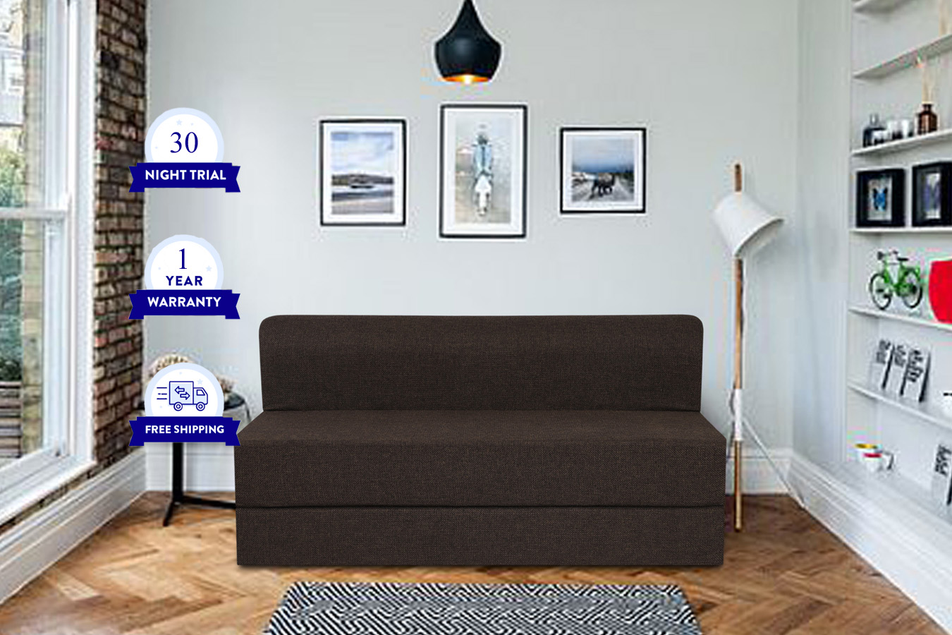 Buy sofa cum bed online with Soft Foam and Fabric