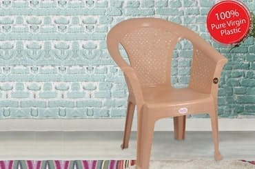 Petals Crystal 100% Virgin Plastic Arm Chair for Home and Garden