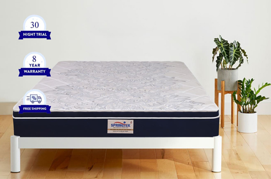Euro top hybrid latex pocket spring mattress