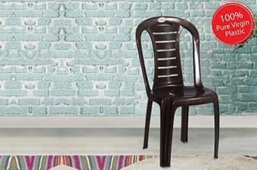 Petals Leo 100% Virgin Plastic Chair for Home and Garden