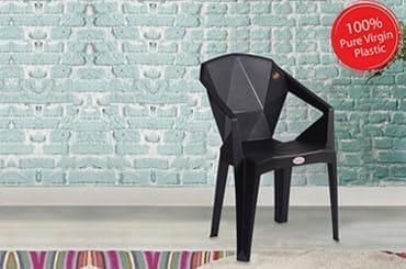 Petals Nakshatra 100% Virgin Plastic Arm Chair for Home and Garden