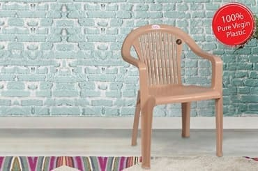 Petals Royal 100% Virgin Plastic Arm Chair for Home and Garden