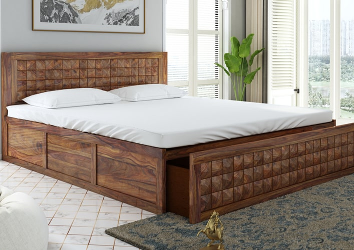 Springtek Dreamer 100% Pure Sheesham King Size Storage Beds