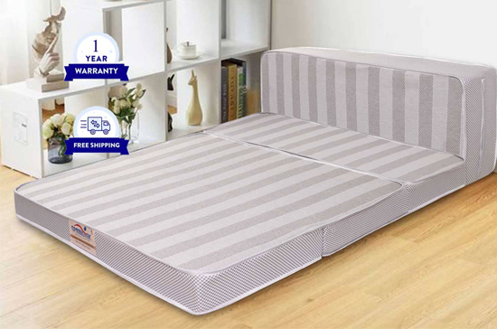 "Tri Folding Mattress 4"" Inches"